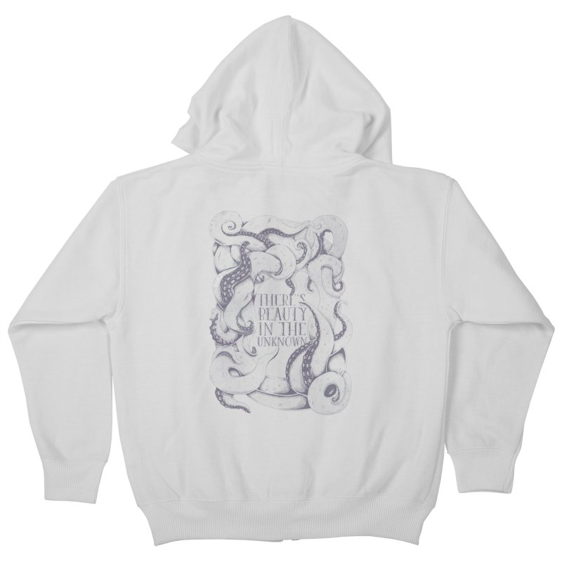 There's Beauty In The Unknown Kids Zip-Up Hoody by Wolf Bite Shop