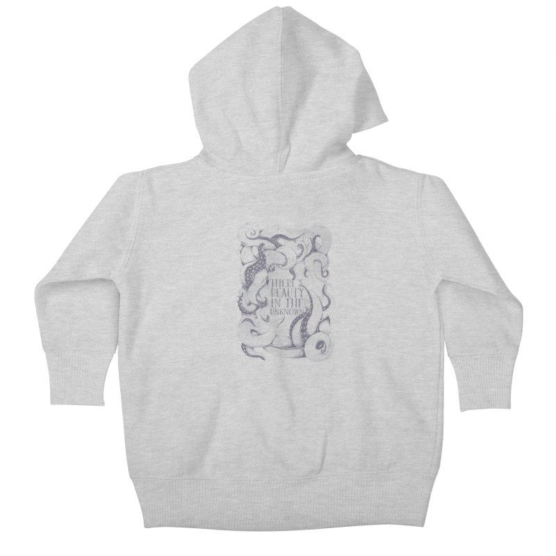 There's Beauty In The Unknown Kids Baby Zip-Up Hoody by Wolf Bite Shop
