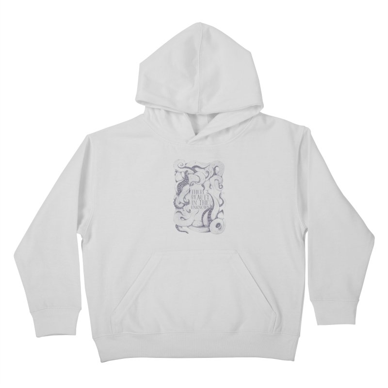 There's Beauty In The Unknown Kids Pullover Hoody by Wolf Bite Shop