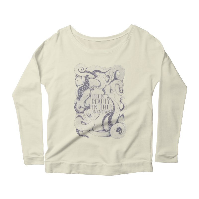 There's Beauty In The Unknown Women's Longsleeve Scoopneck  by Wolf Bite Shop