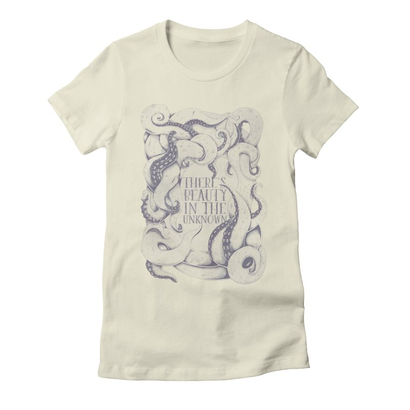 There's Beauty In The Unknown Women's Fitted T-Shirt by Wolf Bite Shop