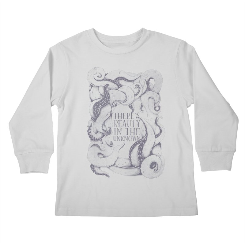 There's Beauty In The Unknown Kids Longsleeve T-Shirt by Wolf Bite Shop