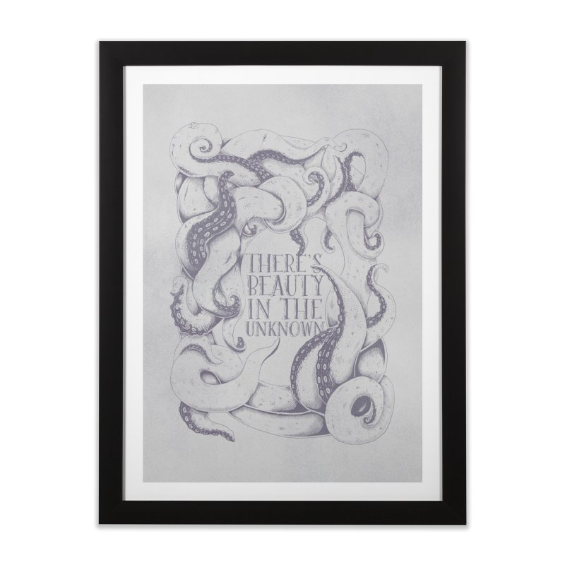 There's Beauty In The Unknown Home Framed Fine Art Print by Wolf Bite Shop