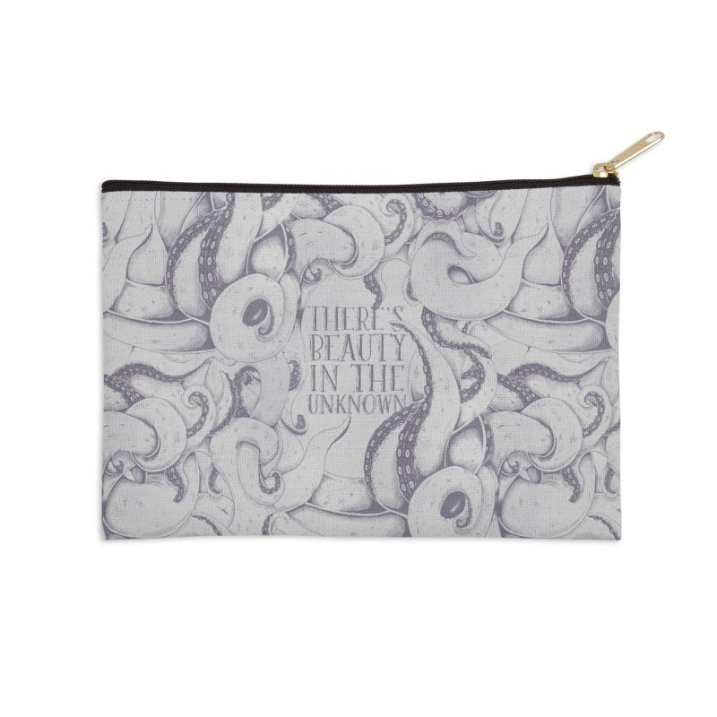 There's Beauty In The Unknown Accessories Zip Pouch by Wolf Bite Shop