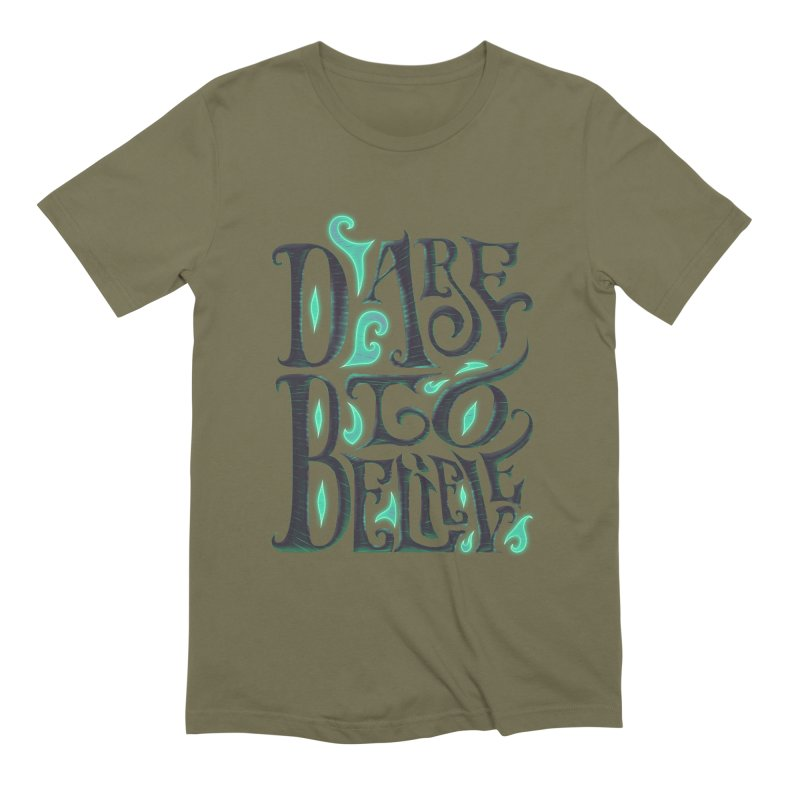 Dare To Believe Men's Extra Soft T-Shirt by Wolf Bite Shop