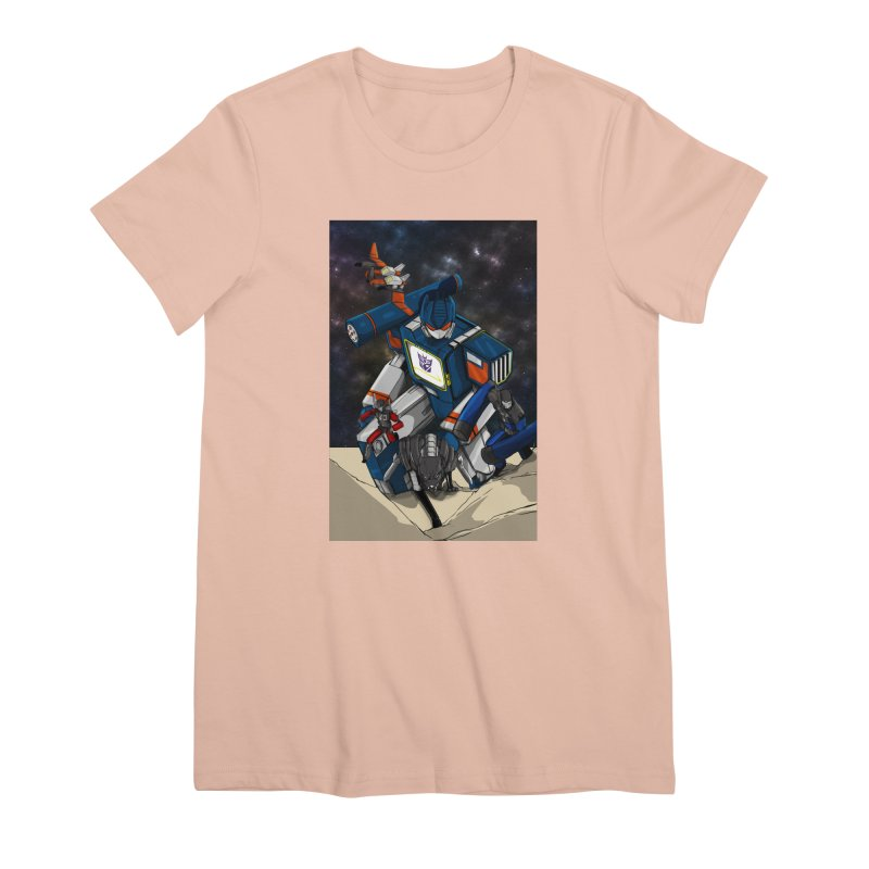 The Wave Women's Premium T-Shirt by wolly mcnair's Artist Shop