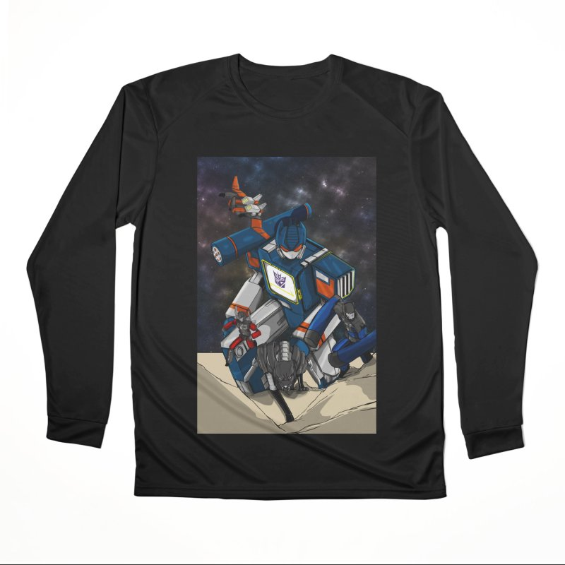 The Wave Men's Performance Longsleeve T-Shirt by wolly mcnair's Artist Shop