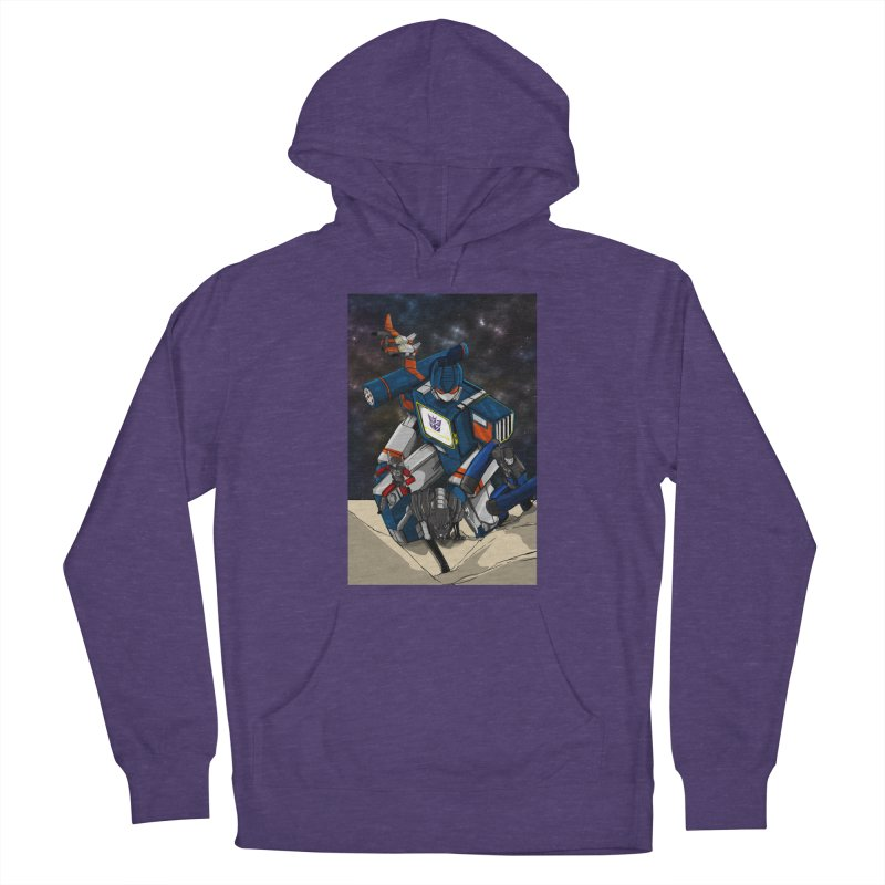 The Wave Men's French Terry Pullover Hoody by wolly mcnair's Artist Shop