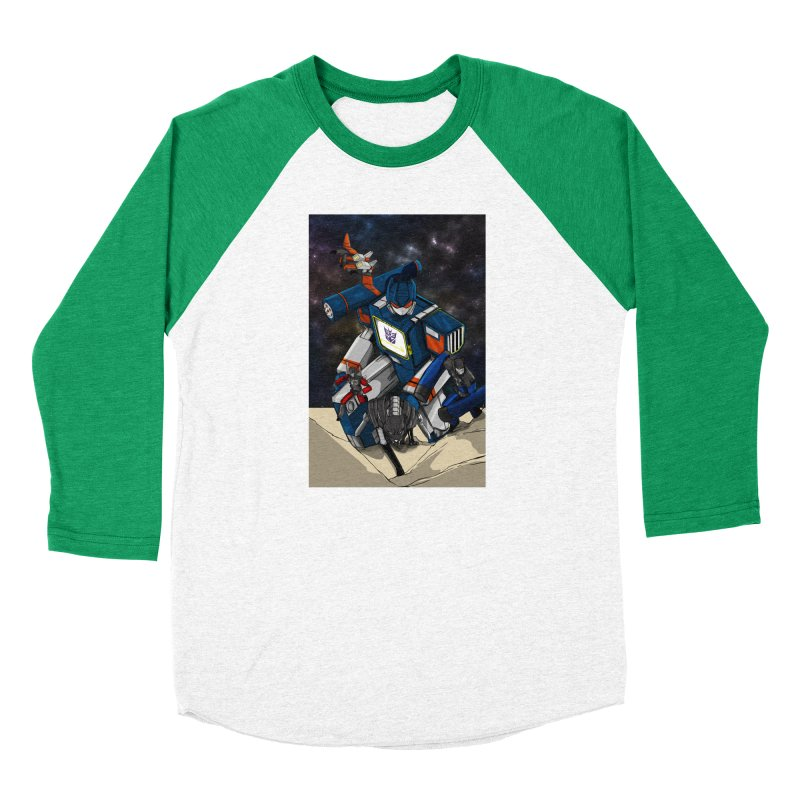 The Wave Men's Baseball Triblend Longsleeve T-Shirt by wolly mcnair's Artist Shop