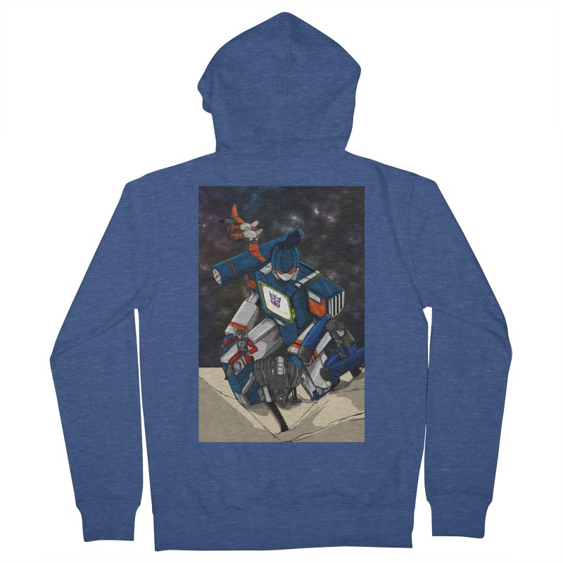 The Wave Women's French Terry Zip-Up Hoody by wolly mcnair's Artist Shop