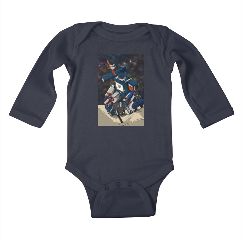 The Wave Kids Baby Longsleeve Bodysuit by wolly mcnair's Artist Shop