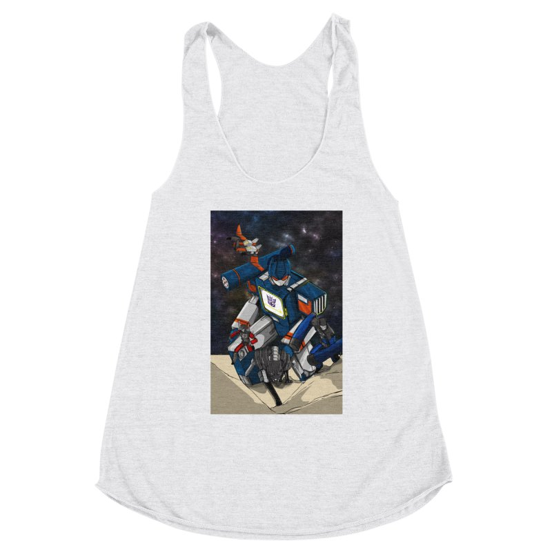 The Wave Women's Racerback Triblend Tank by wolly mcnair's Artist Shop
