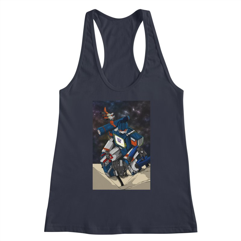 The Wave Women's Racerback Tank by wolly mcnair's Artist Shop