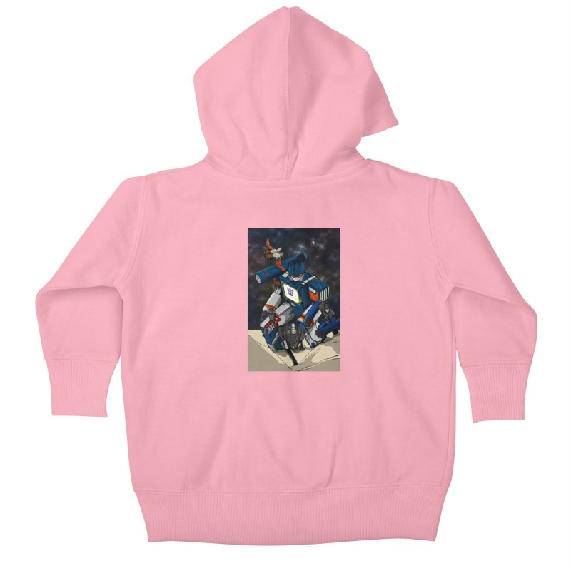 The Wave Kids Baby Zip-Up Hoody by wolly mcnair's Artist Shop