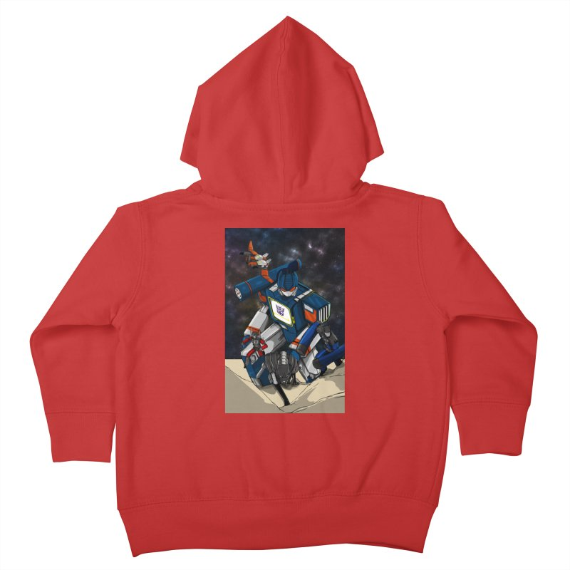 The Wave Kids Toddler Zip-Up Hoody by wolly mcnair's Artist Shop