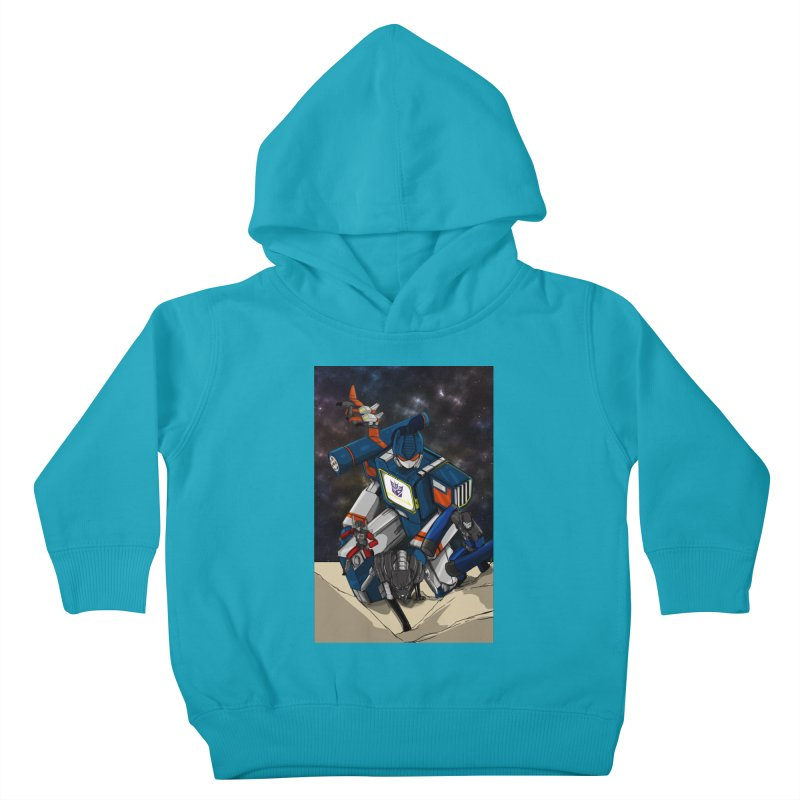 The Wave Kids Toddler Pullover Hoody by wolly mcnair's Artist Shop