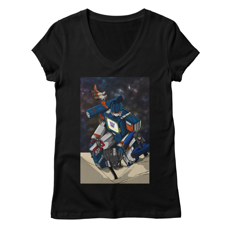 The Wave Women's V-Neck by wolly mcnair's Artist Shop