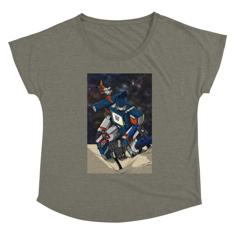 The Wave Women's Scoop Neck by wolly mcnair's Artist Shop