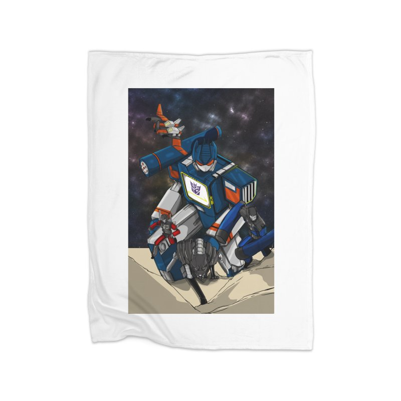 The Wave Home Fleece Blanket Blanket by wolly mcnair's Artist Shop