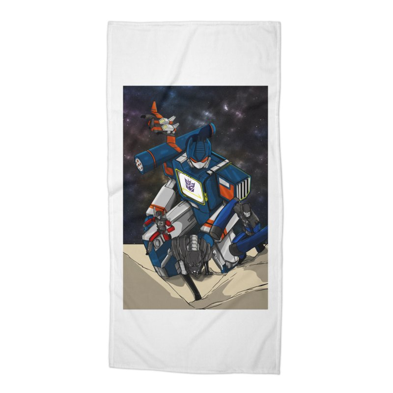 The Wave Accessories Beach Towel by wolly mcnair's Artist Shop