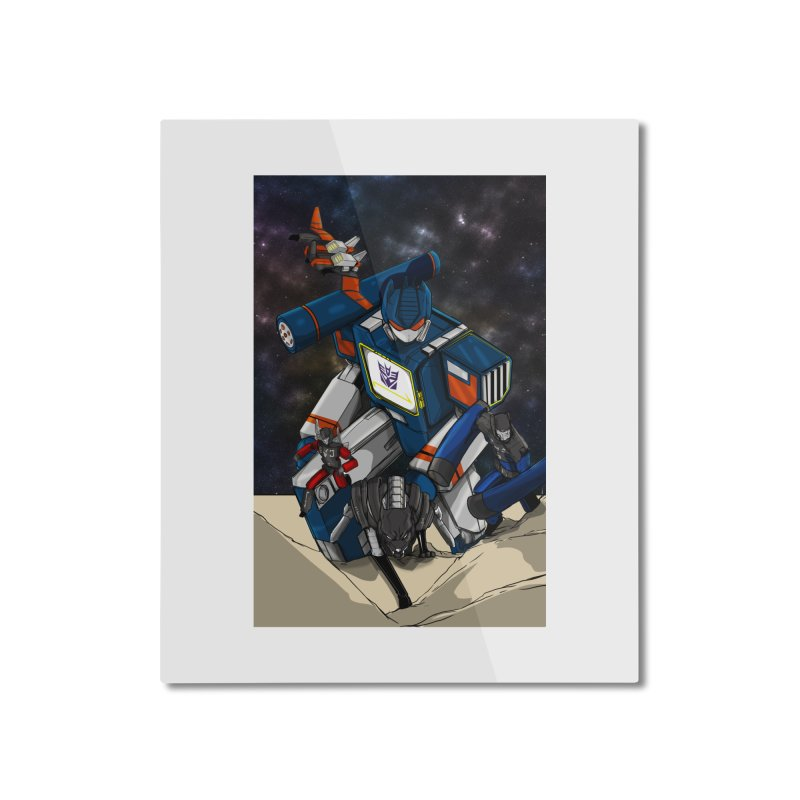 The Wave Home Mounted Aluminum Print by wolly mcnair's Artist Shop