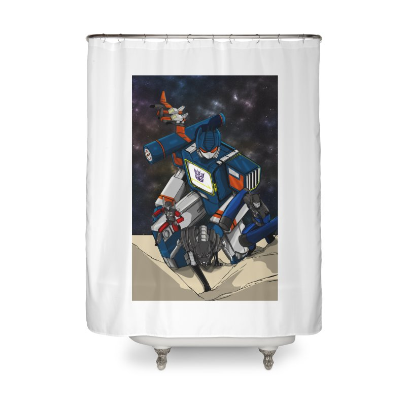 The Wave Home Shower Curtain by wolly mcnair's Artist Shop