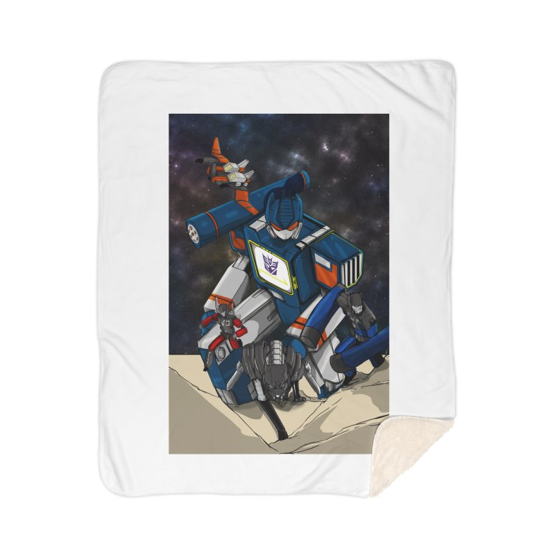 The Wave Home Sherpa Blanket Blanket by wolly mcnair's Artist Shop