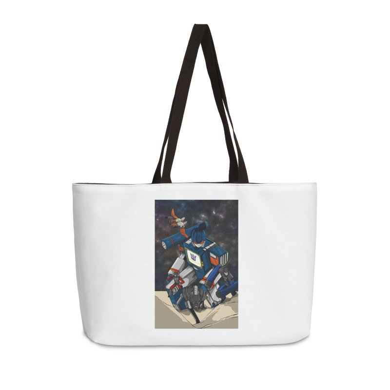 The Wave Accessories Weekender Bag Bag by wolly mcnair's Artist Shop