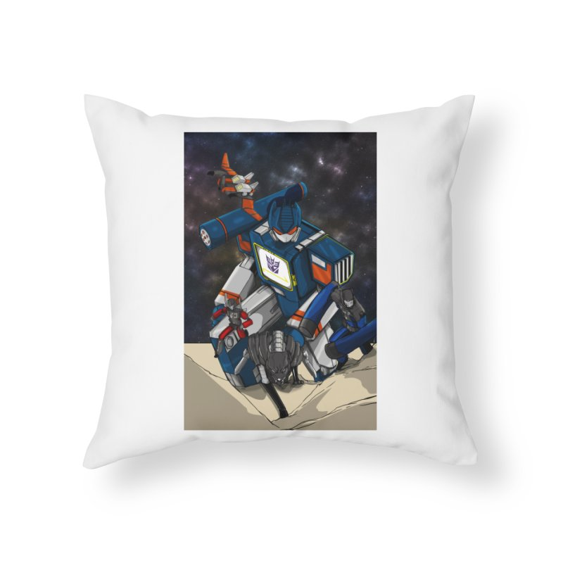 The Wave Home Throw Pillow by wolly mcnair's Artist Shop