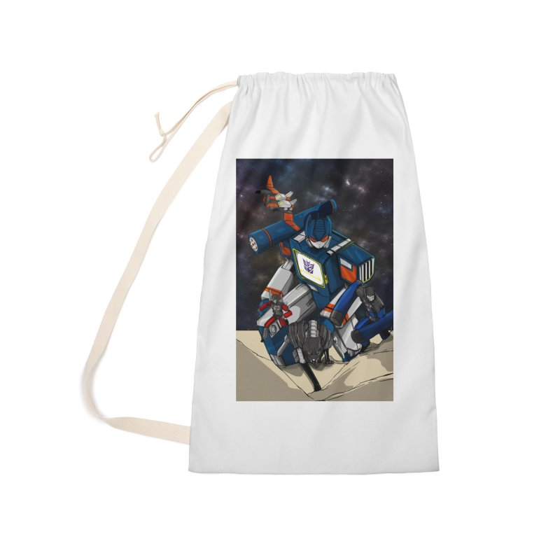 The Wave Accessories Laundry Bag Bag by wolly mcnair's Artist Shop