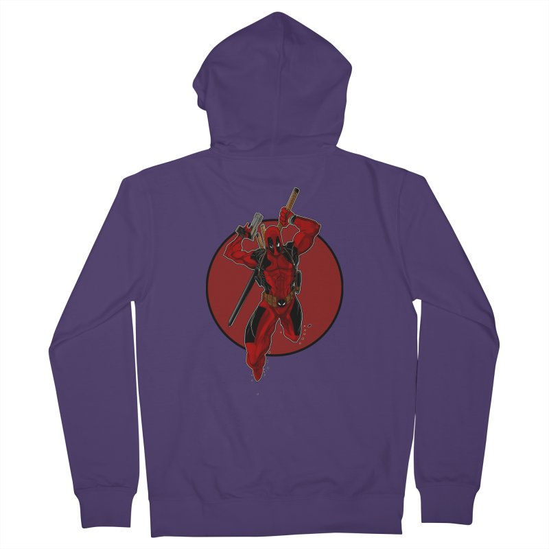 action!! Women's French Terry Zip-Up Hoody by wolly mcnair's Artist Shop