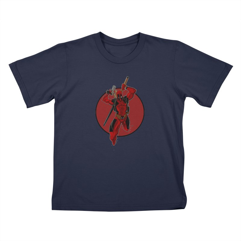action!! Kids T-Shirt by wolly mcnair's Artist Shop