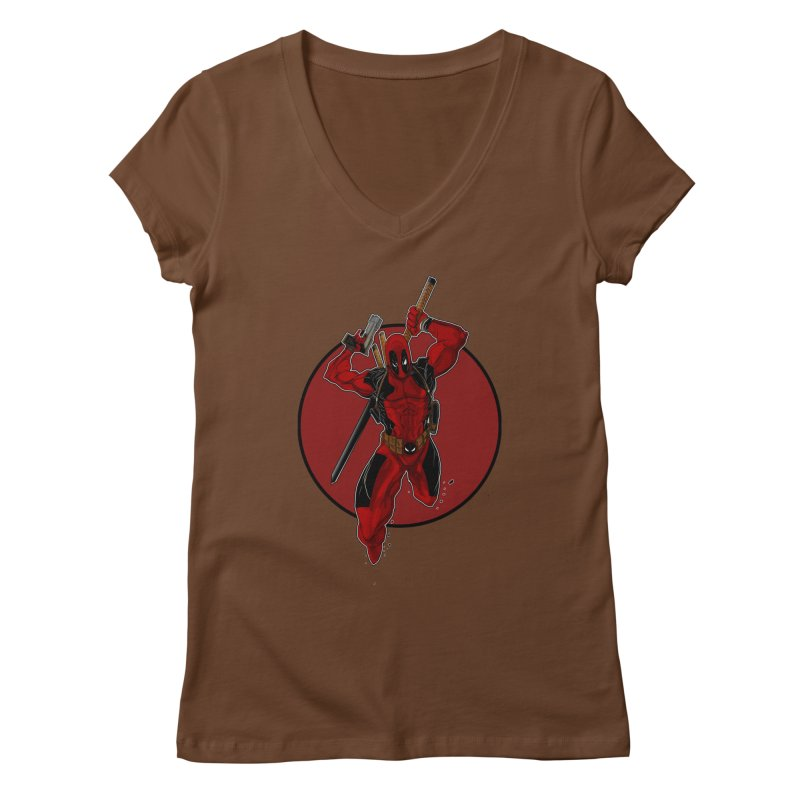 action!! Women's Regular V-Neck by wolly mcnair's Artist Shop