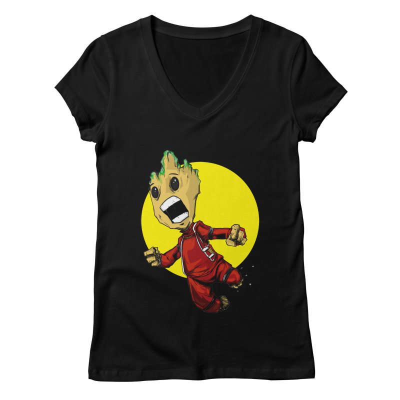AHHHH!!!!! Women's V-Neck by wolly mcnair's Artist Shop