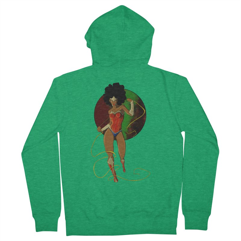 Nubia Men's Zip-Up Hoody by wolly mcnair's Artist Shop