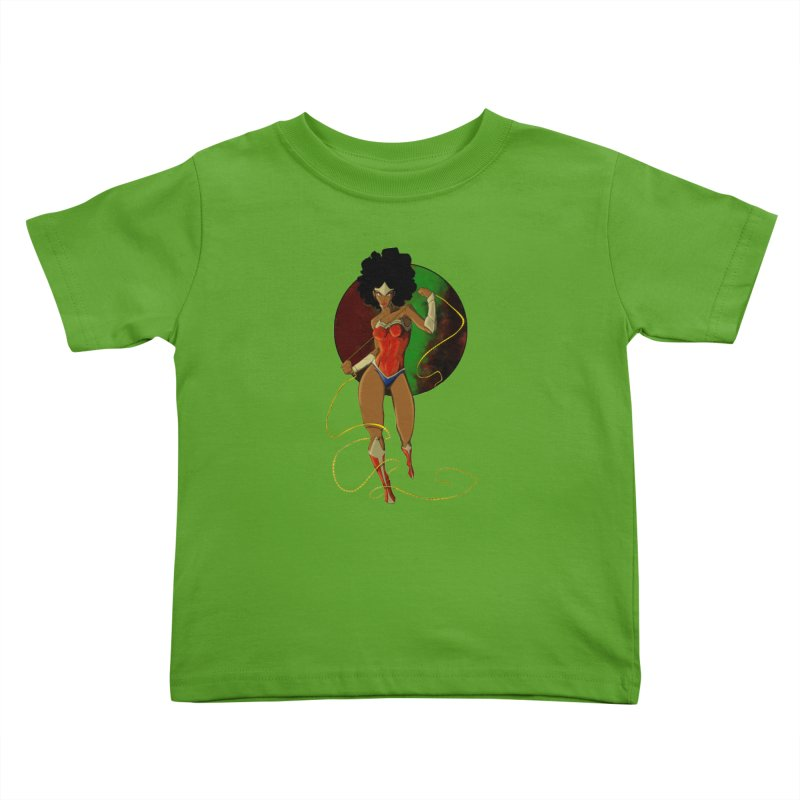 Nubia Kids Toddler T-Shirt by wolly mcnair's Artist Shop