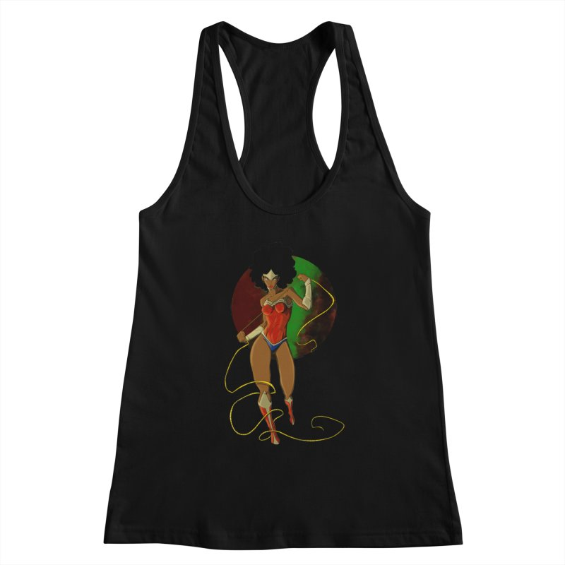 Nubia Women's Racerback Tank by wolly mcnair's Artist Shop