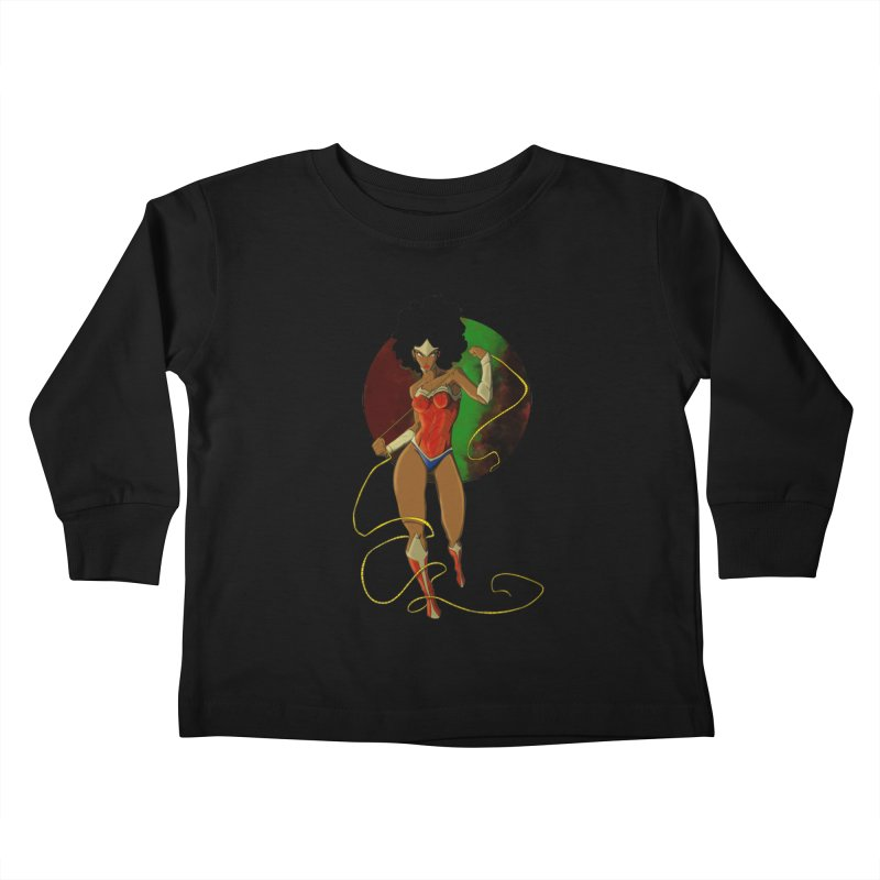 Nubia Kids Toddler Longsleeve T-Shirt by wolly mcnair's Artist Shop