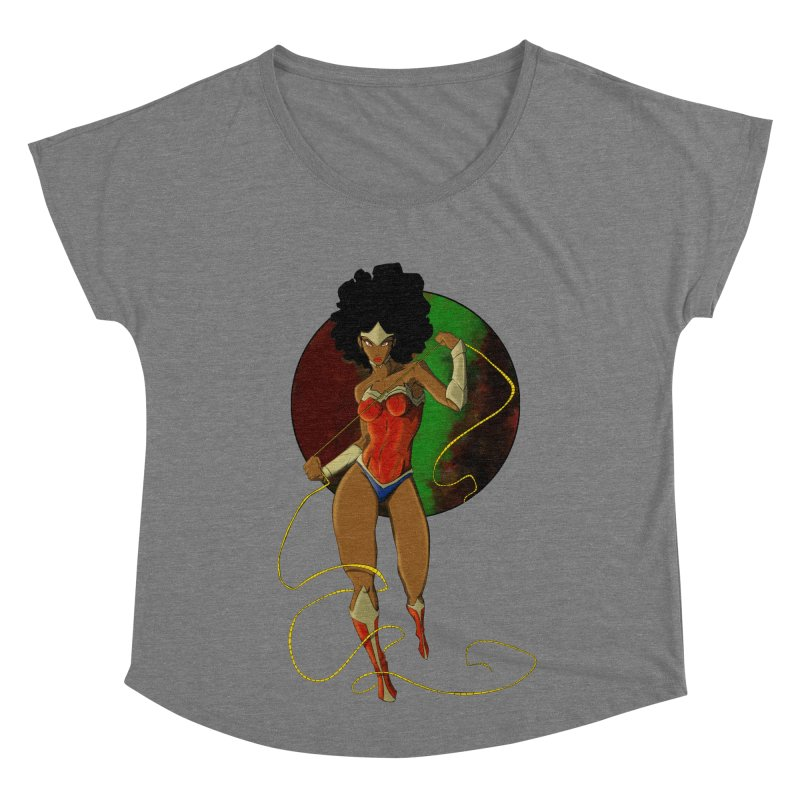 Nubia Women's Scoop Neck by wolly mcnair's Artist Shop