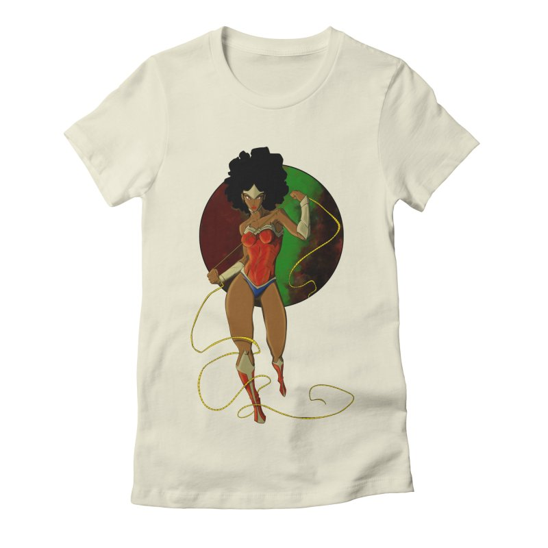 Nubia Women's Fitted T-Shirt by wolly mcnair's Artist Shop
