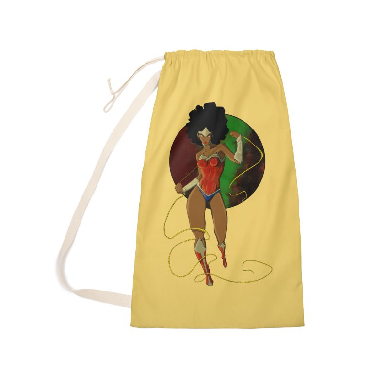 Nubia Accessories Laundry Bag Bag by wolly mcnair's Artist Shop