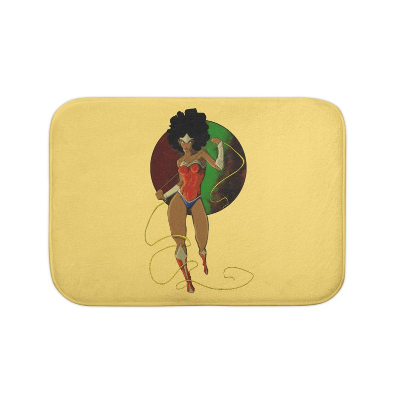 Nubia Home Bath Mat by wolly mcnair's Artist Shop
