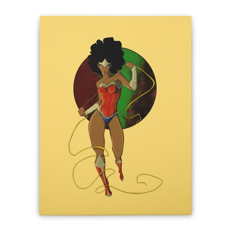 Nubia Home Stretched Canvas by wolly mcnair's Artist Shop