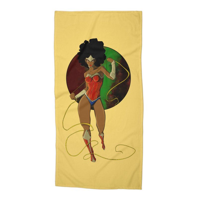 Nubia Accessories Beach Towel by wolly mcnair's Artist Shop