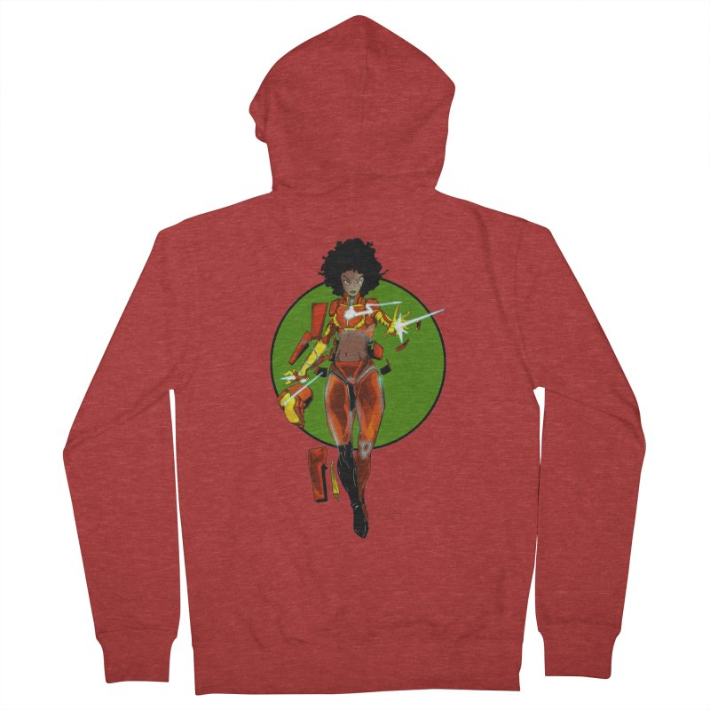 heart Women's French Terry Zip-Up Hoody by wolly mcnair's Artist Shop