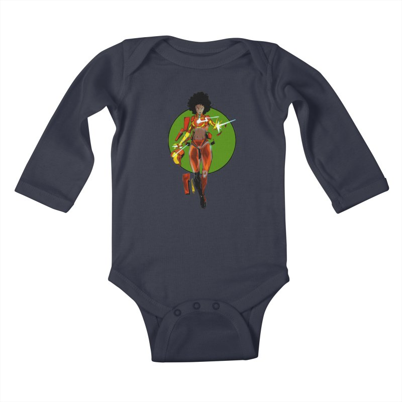 heart Kids Baby Longsleeve Bodysuit by wolly mcnair's Artist Shop