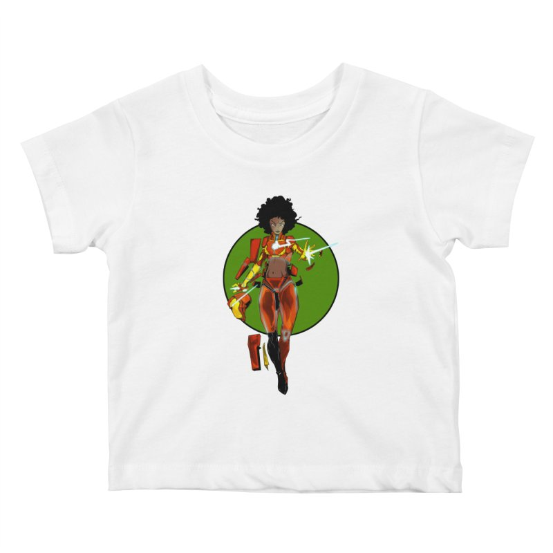 heart Kids Baby T-Shirt by wolly mcnair's Artist Shop