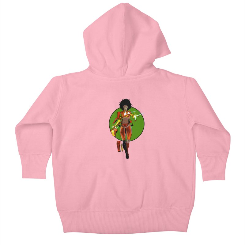 heart Kids Baby Zip-Up Hoody by wolly mcnair's Artist Shop