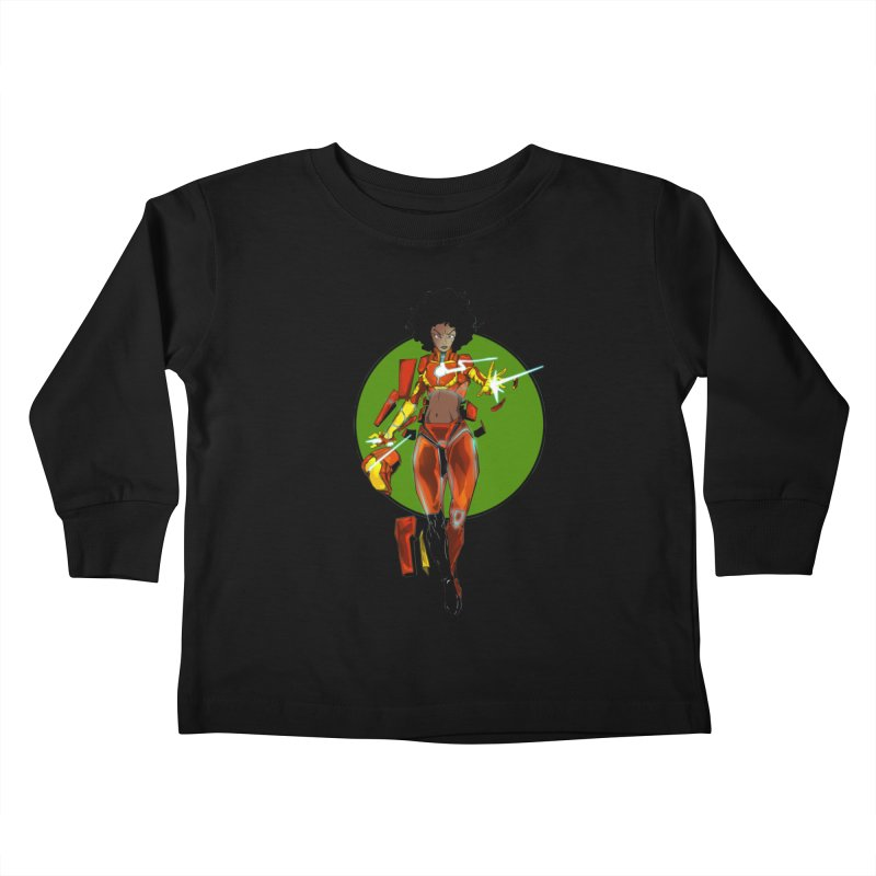 heart Kids Toddler Longsleeve T-Shirt by wolly mcnair's Artist Shop