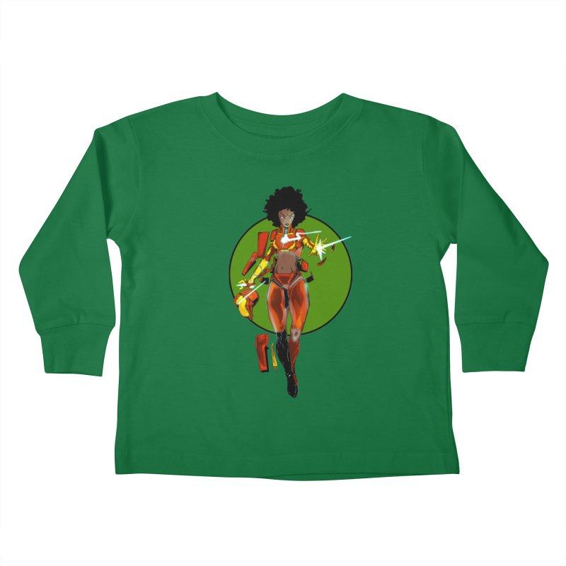heart Kids Toddler Longsleeve T-Shirt by wolly mcnair's Artist Shop